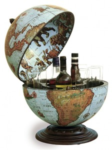 Image of Fine Vintage Desk Globe Bar