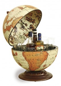 Image of Fine Vintage Desk Globe Bar