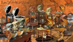 Image of various bar globes from BarGlobeWorld.com.