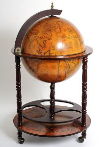 Image of Old World Globe Bar Cabinet